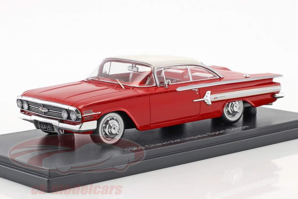 Chevrolet Impala Sport Coupe Baujahr 1960 rot / weiß 1:43 Neo