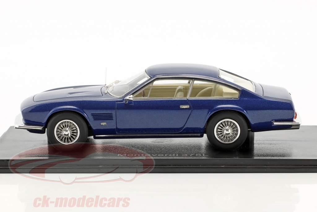 Monteverdi 375 L année de construction 1969 bleu métallique 1:43 Neo