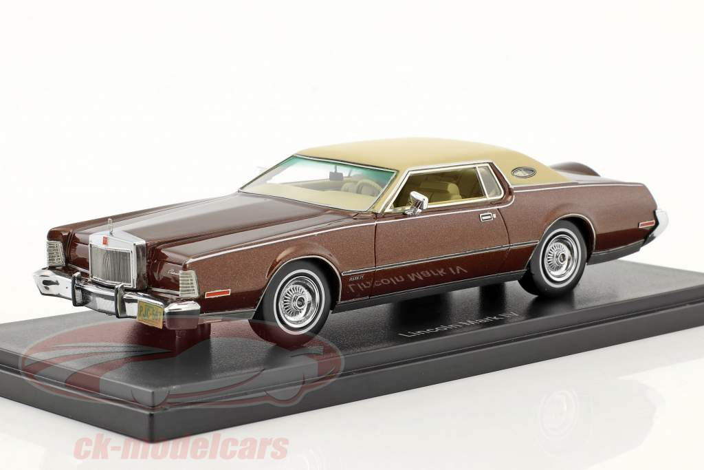 Lincoln Continental Mark IV année de construction 1973 brun métallique / beige 1:43 Neo
