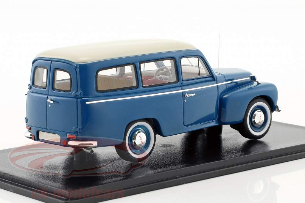 Volvo Duett PV445 year 1956 blue / white 1:43 Neo