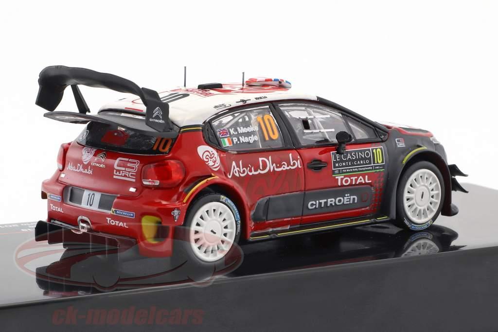 Citroen C3 WRC #10 4th Rallye Monte Carlo 2018 Meeke, Nagle 1:43 Ixo