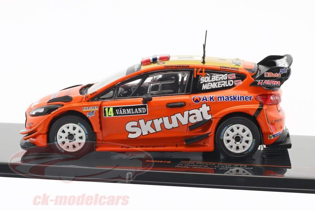 Ford Fiesta WRC #14 Rallye Svezia 2018 Solberg, Menkerud 1:43 Ixo
