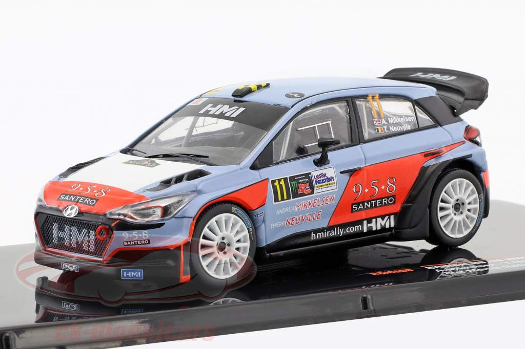 Hyundai NG i20 WRC #11 segundo Monza Rallye Show 2017 Mikkelsen, Neuville 1:43 Ixo