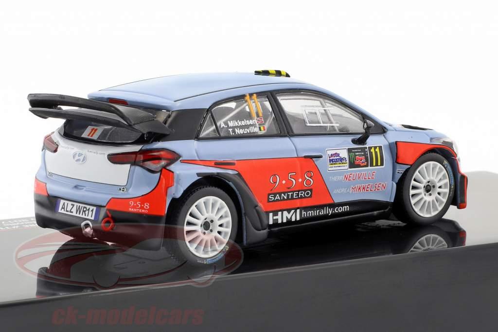 Hyundai NG i20 WRC #11 2e Monza Rallye Show 2017 Mikkelsen, Neuville 1:43 Ixo