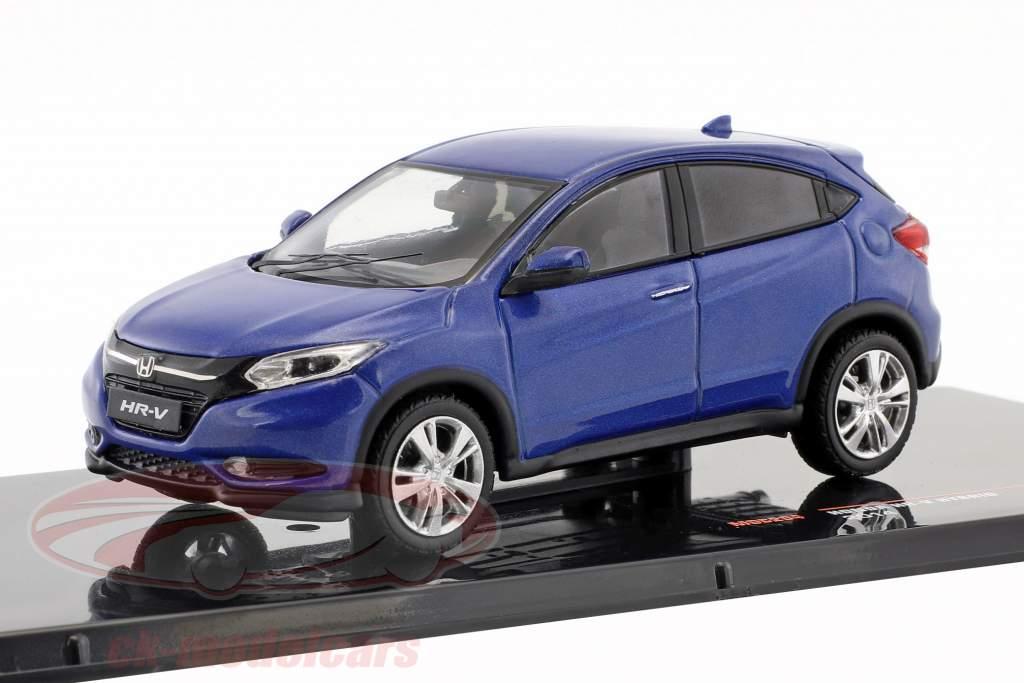 Honda HR-V Hybrid Opførselsår 2014 blå metallisk 1:43 Ixo