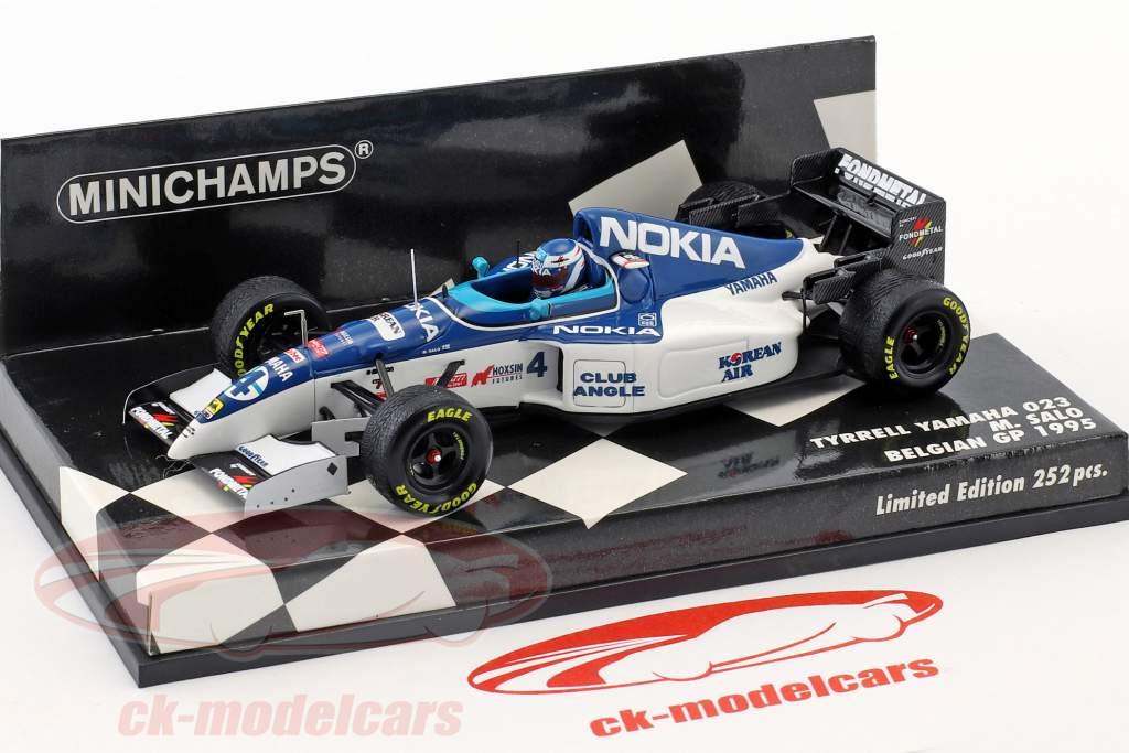 Mika Salo Tyrrell 023 #4 8th Belgian GP formula 1 1995 1:43 Minichamps