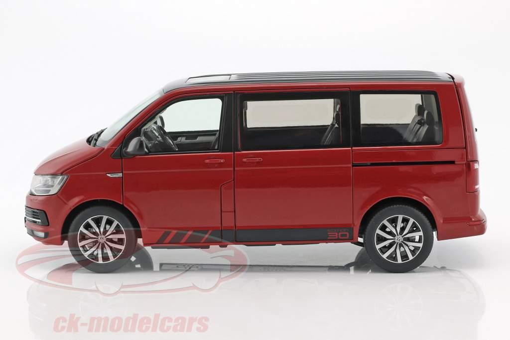 Volkswagen VW T6 Multivan Edition 30 red 1:18 NZG