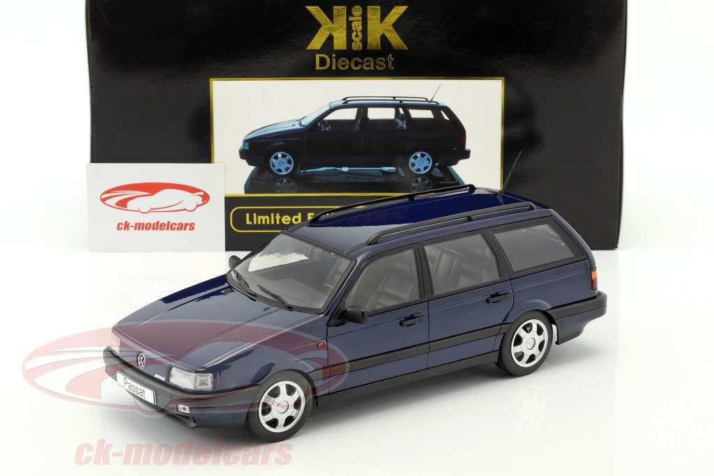 Volkswagen VW Passat B3 Variant année 1988 bleu 1:18 KK-Scale