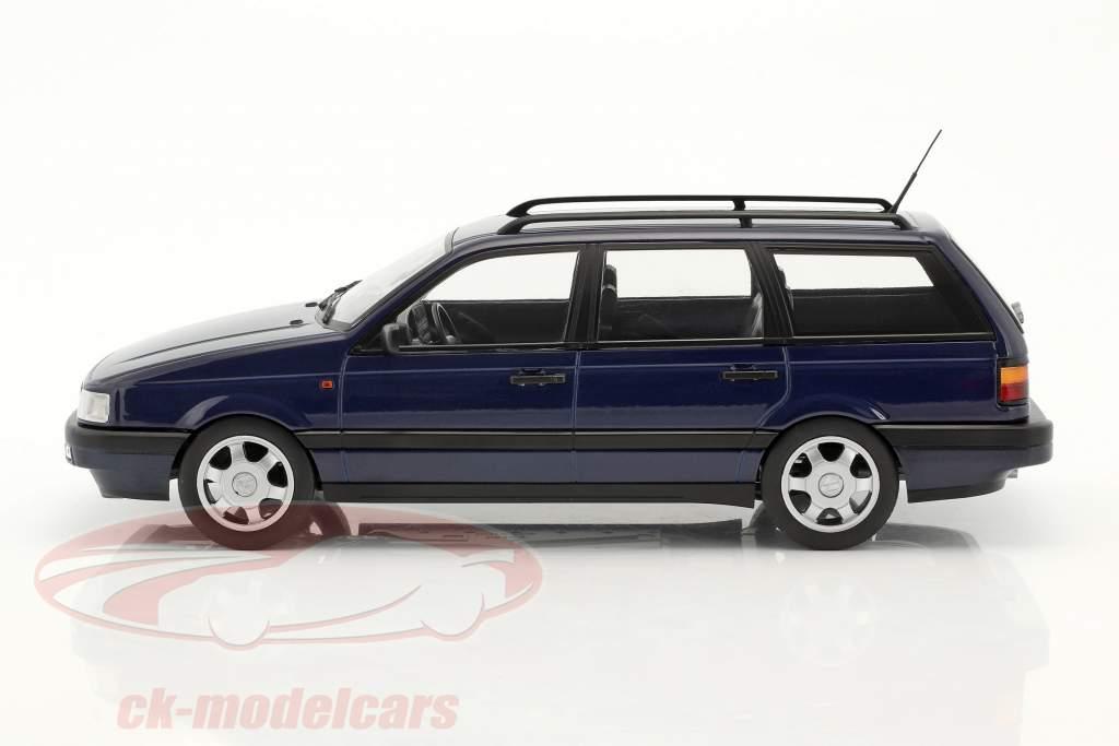 Volkswagen VW Passat B3 Variant ano 1988 azul 1:18 KK-Scale