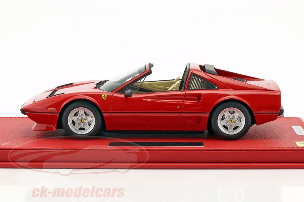Ferrari 208 GTS Turbo Baujahr 1983 corsa rot mit Vitrine 1:18 BBR