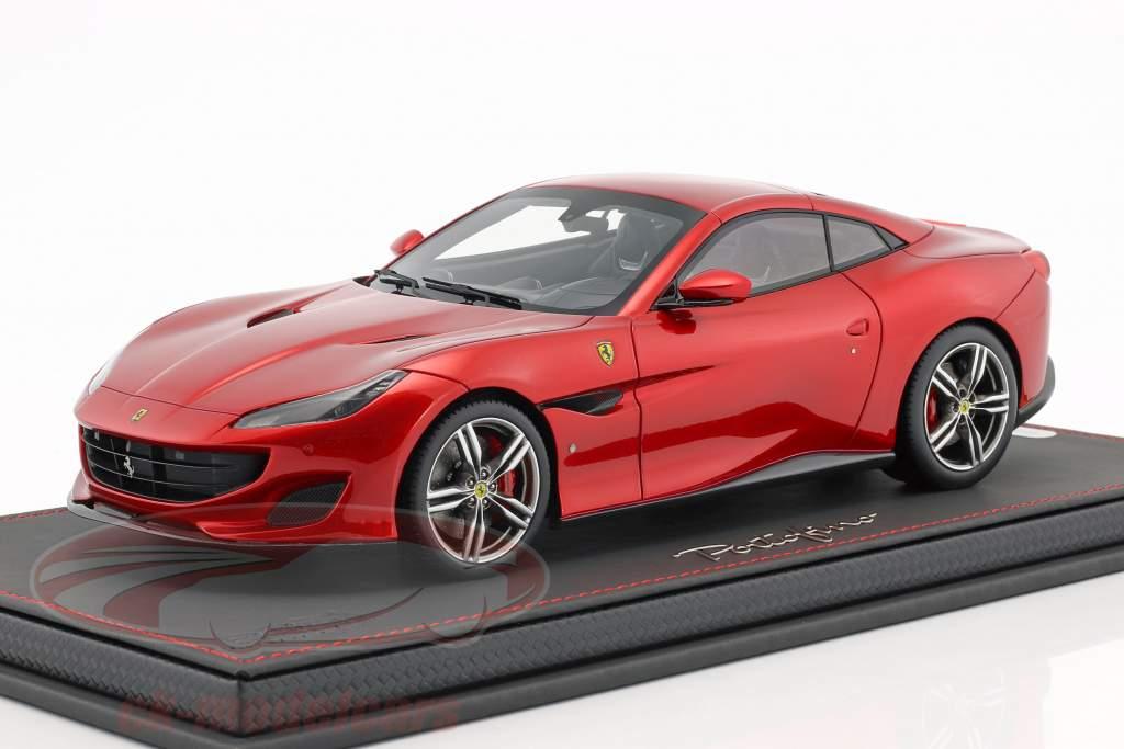 Ferrari Portofino Closed Top year 2017 Fire red 1:18 BBR