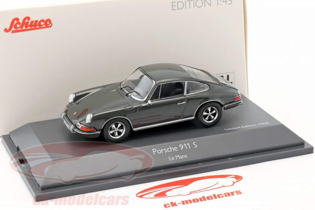 Porsche 911 S Steve McQueen MovieCar film Le Mans (1971) gris 1:43 Schuco