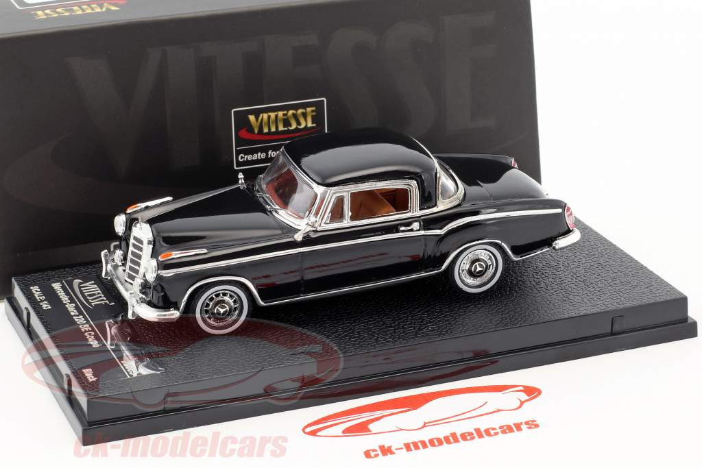 Mercedes-Benz 220 SE coupe year 1959 black 1:43 Vitesse