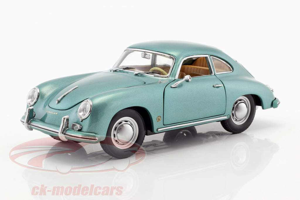 Porsche 356 A 1500 GS Carrera GT year 1957 green metallic 1:18 Sun Star