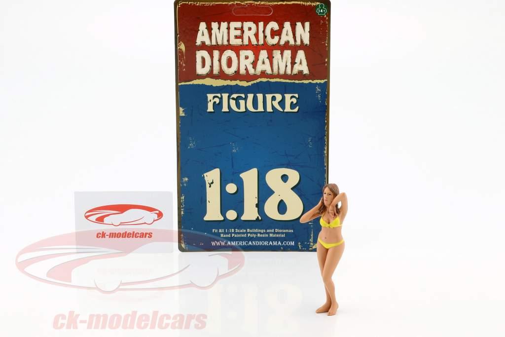 calendario chica enero en bikini 1:18 American Diorama