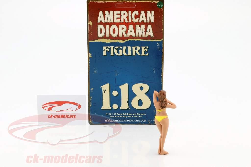 calendário menina janeiro em bikini 1:18 American Diorama