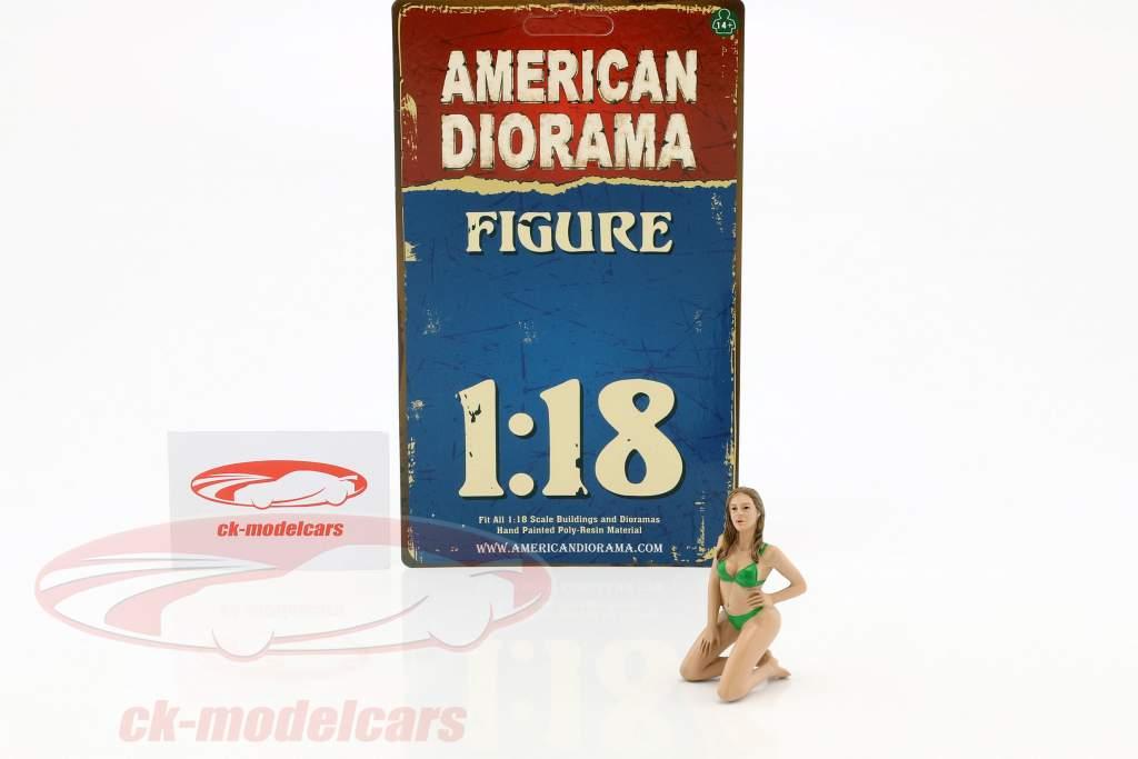 calendrier fille février en bikini 1:18 American diorama