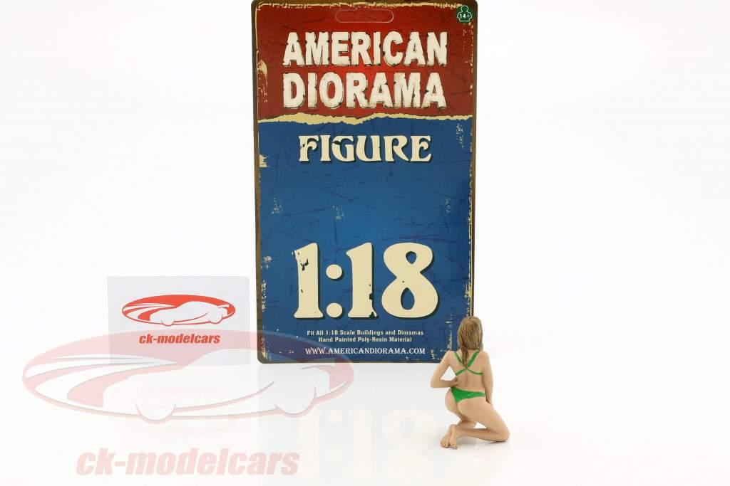 calendario ragazza febbraio in bikini 1:18 American diorama