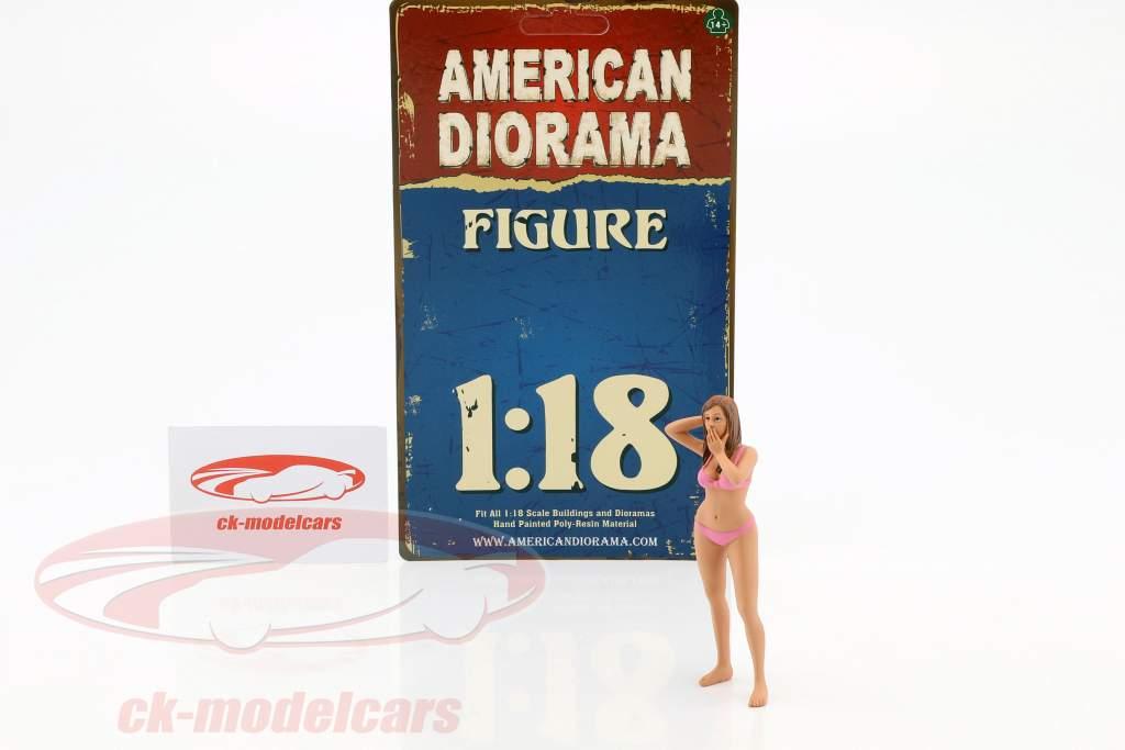 calendario chica marzo en bikini 1:18 American Diorama