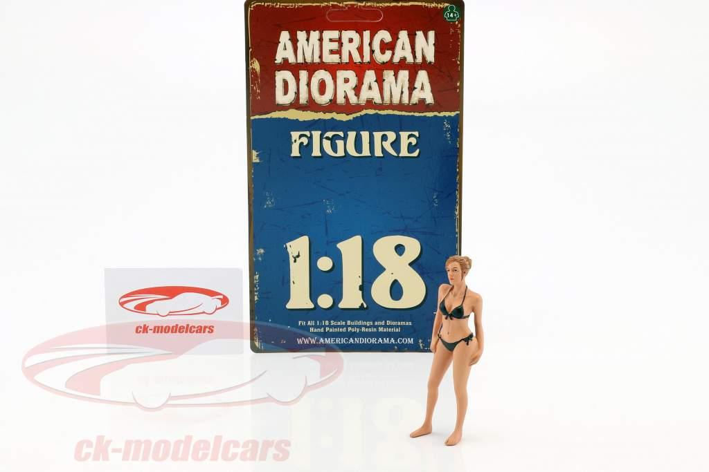 Kalender-Girl April im Bikini 1:18 American Diorama