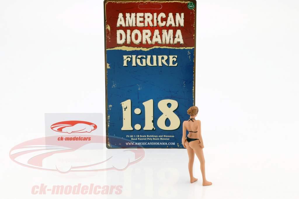 kalender meisje april in bikini 1:18 American Diorama