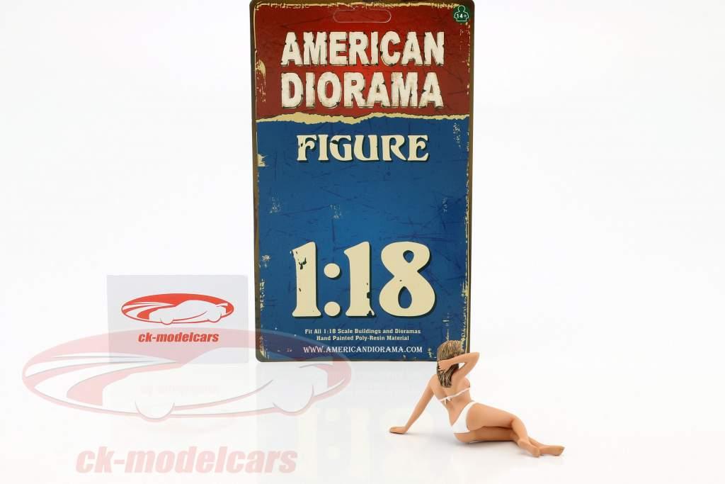 calendrier fille juin en bikini 1:18 American Diorama
