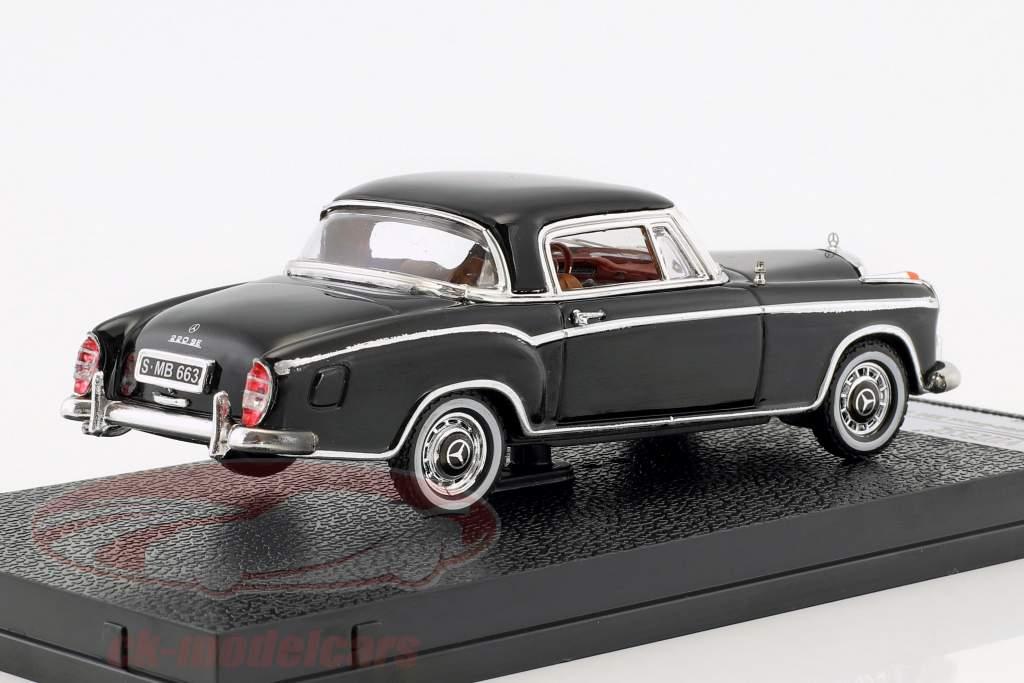 Mercedes-Benz 220 SE coupe ano de construção 1959 preto 1:43 Vitesse