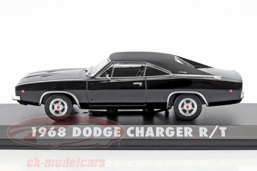 Dodge Charger R / T Steve McQueen Película Bullitt (1968) negro 1:43 Greenlight