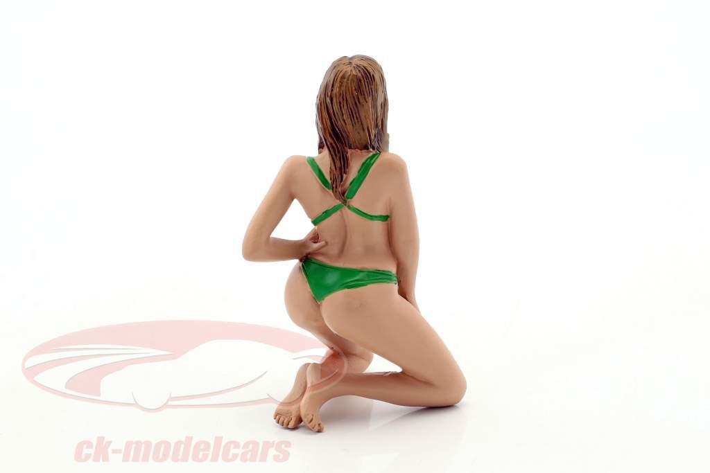 kalender pige februar i bikini 1:18 American diorama