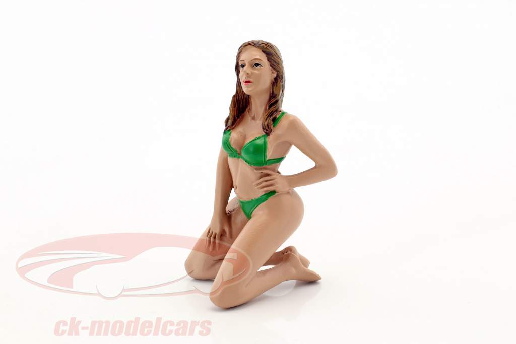 calendário menina fevereiro em bikini 1:18 American diorama