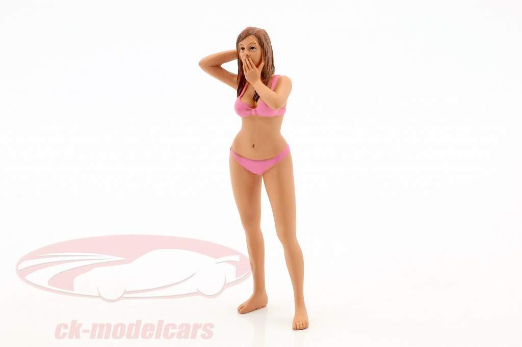 calendário menina março em bikini 1:18 American Diorama