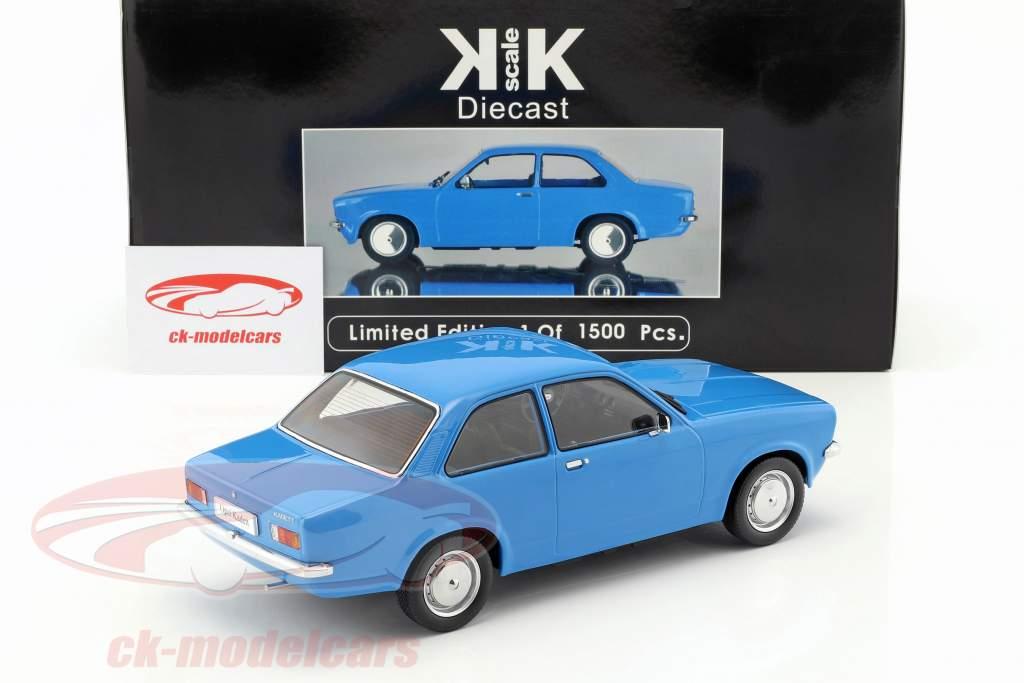 Opel Kadett C Limousine Anno 1973-1977 blu 1:18 KK-Scale