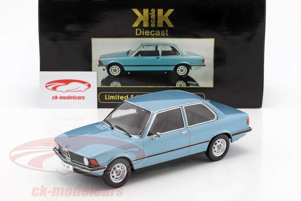 BMW 318i E21 año 1975 azul claro metálico 1:18 KK-Scale
