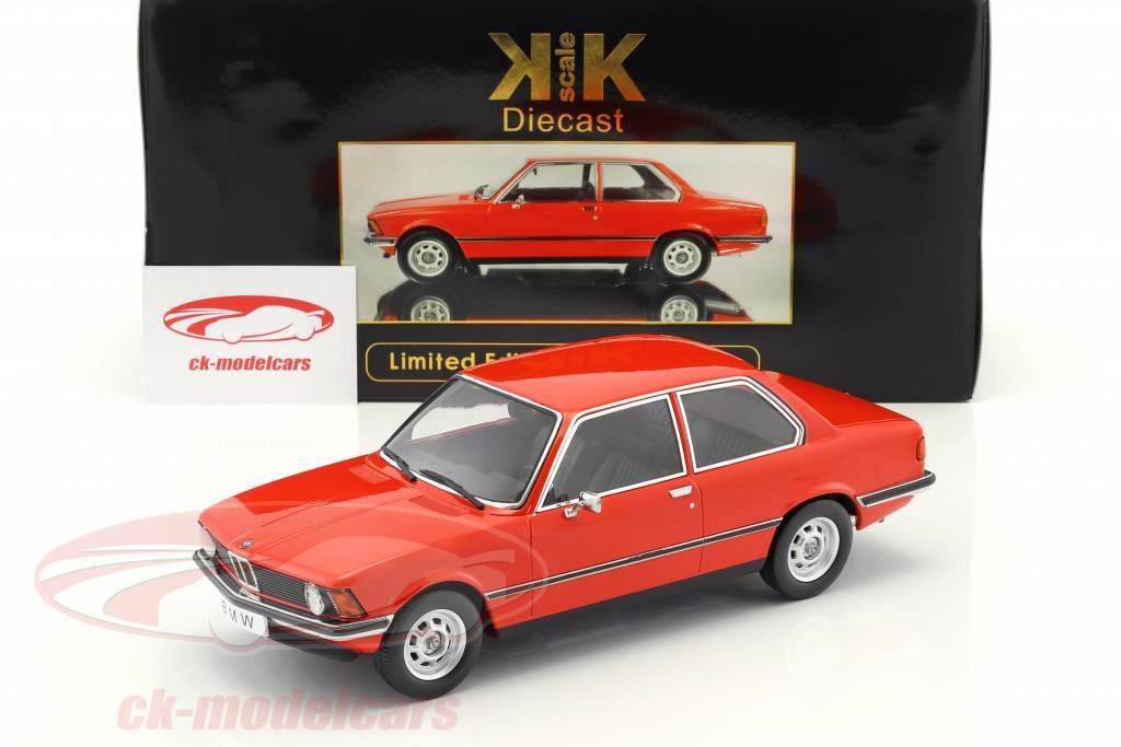 BMW 318i E21 Year 1975 red metallic 1:18 KK-Scale