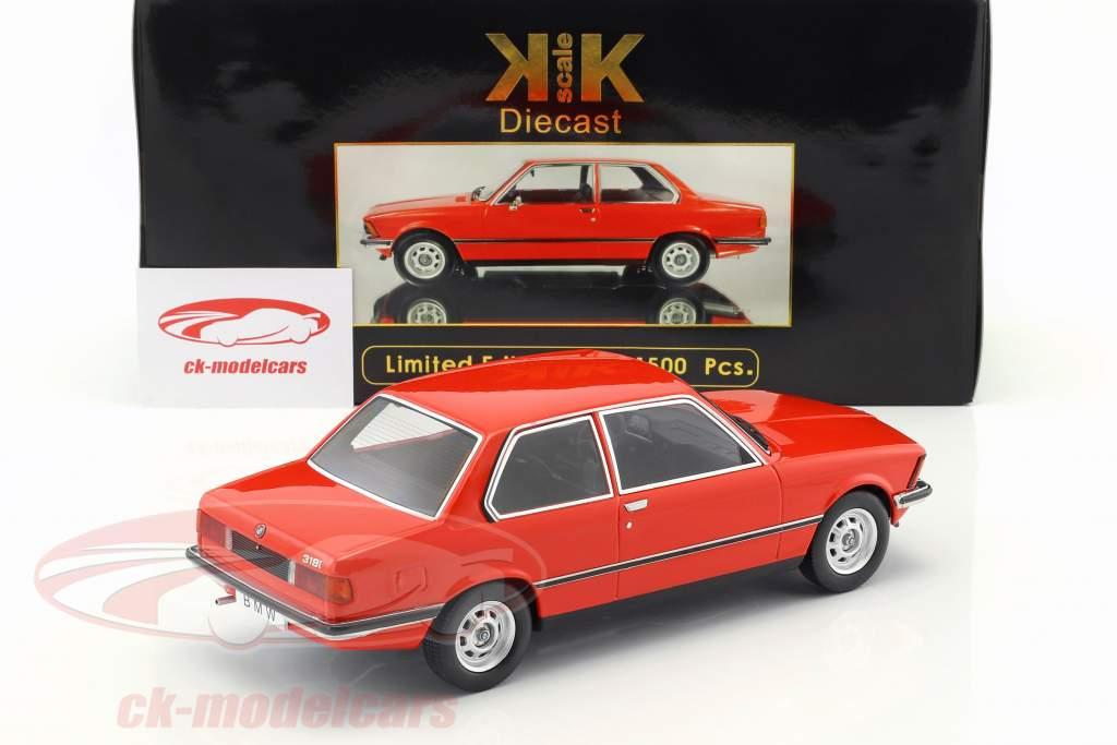 BMW 318i E21 année 1975 rouge métallique 1:18 KK-Scale