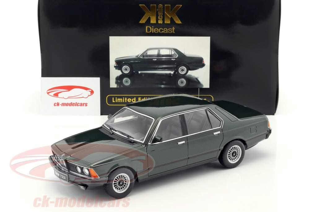 BMW 733i E23 Baujahr 1977 dunkelgrün metallic 1:18 KK-Scale