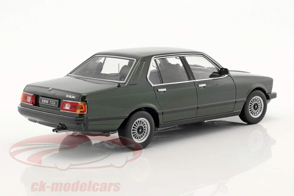 BMW 733i E23 Year 1977 dark green metallic 1:18 KK-Scale