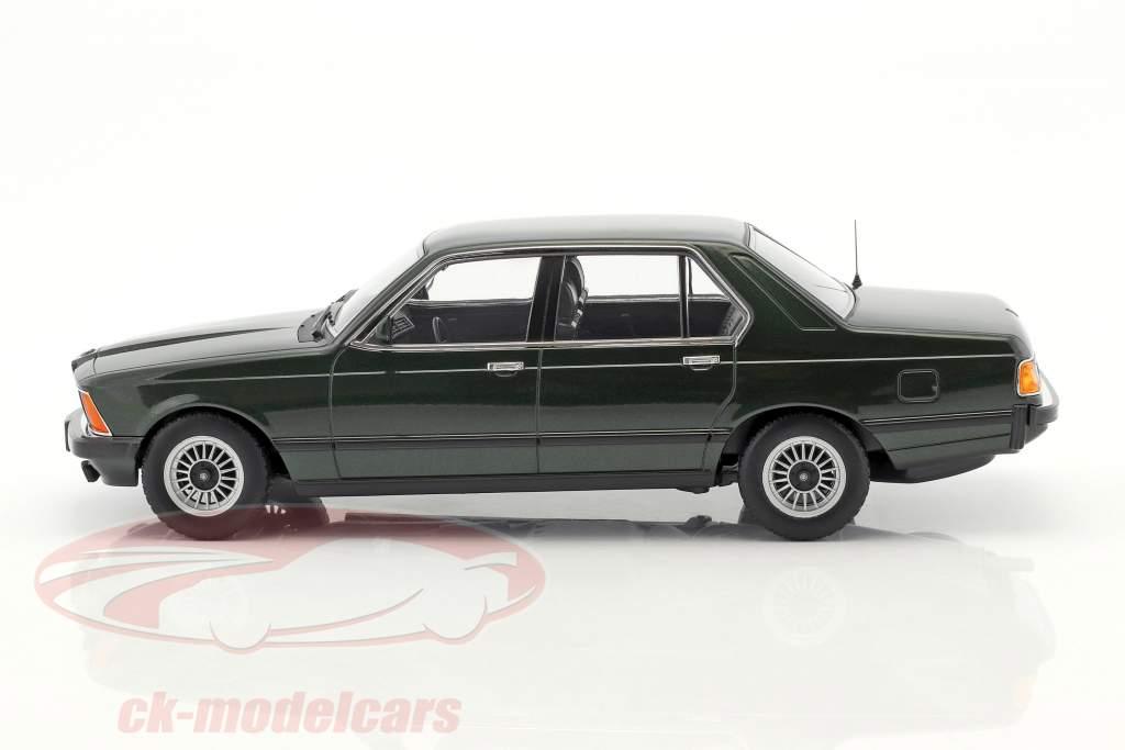 BMW 733i E23 año 1977 verde oscuro metálico 1:18 KK-Scale