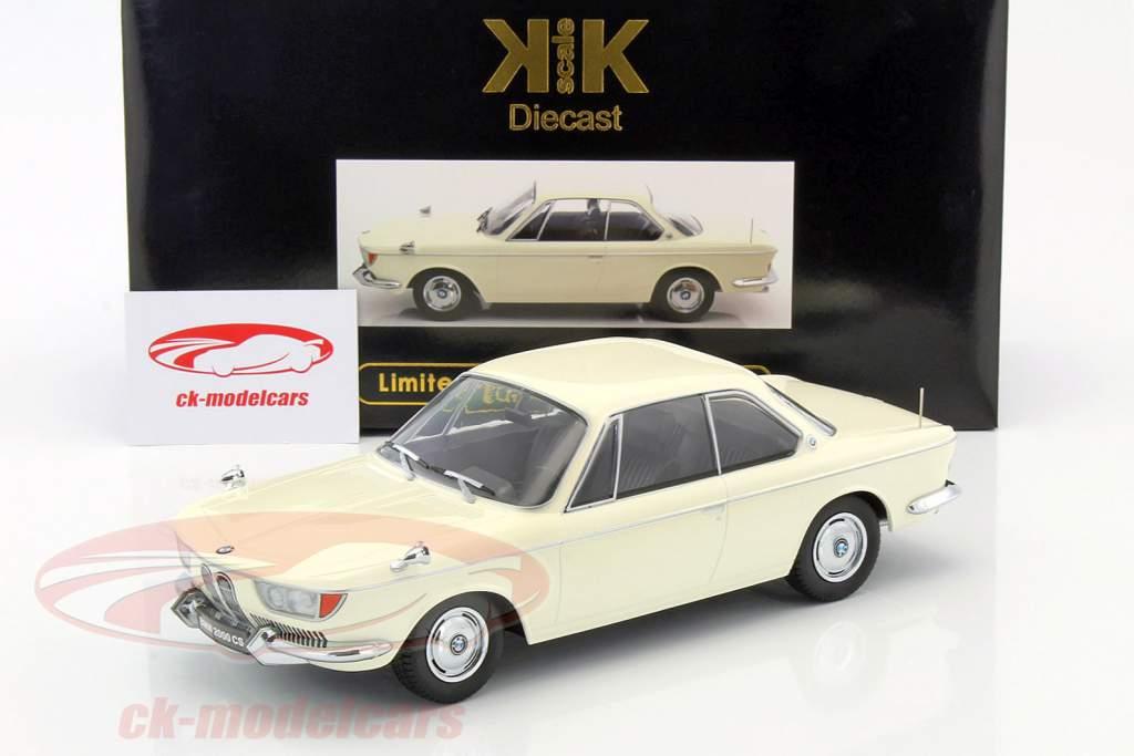 BMW 2000 CS coupe ano de construção 1965 creme branco 1:18 KK-Scale