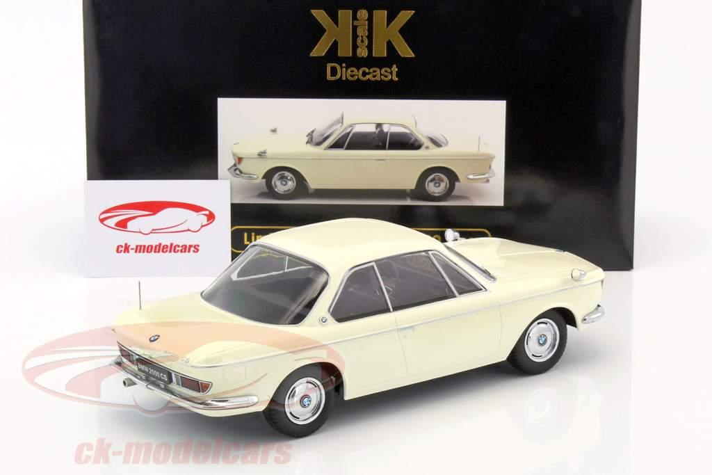 BMW 2000 CS coupe año de construcción 1965 crema blanco 1:18 KK-Scale