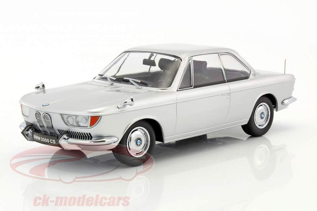 BMW 2000 CS coupe ano de construção 1965 prata 1:18 KK-Scale
