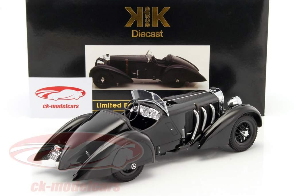 Mercedes-Benz SSK Count Trossi Der schwarze Prinz ano de construção 1930 preto 1:18 KK-Scale