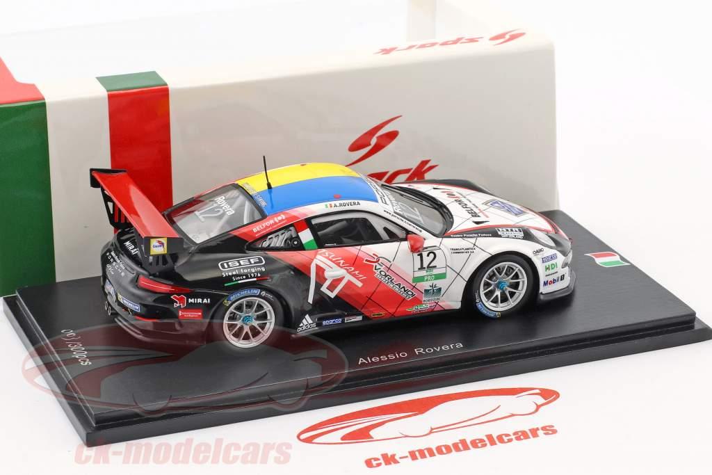 Porsche 911 GT3 Cup #12 champion Porsche Carrera Cup Italie 2017 Alessio Rovera 1:43 Spark