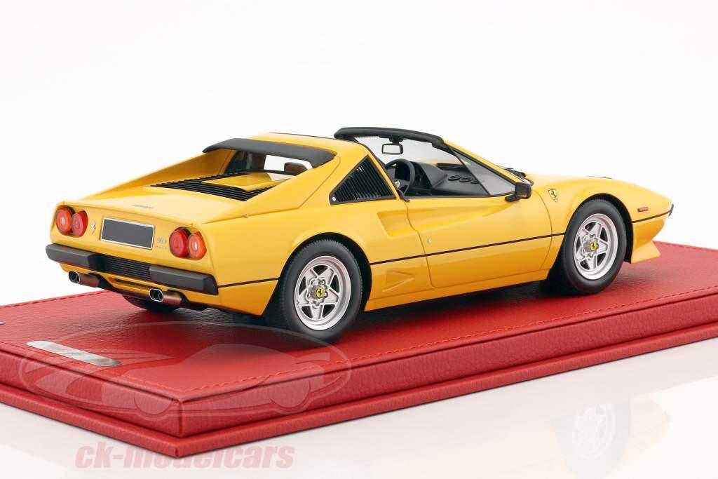 Ferrari 208 GTS Turbo anno di costruzione 1983 giallo 1:18 BBR