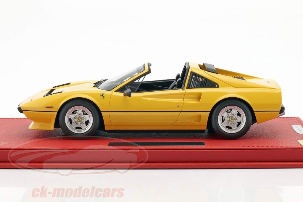 Ferrari 208 GTS Turbo year 1983 yellow 1:18 BBR