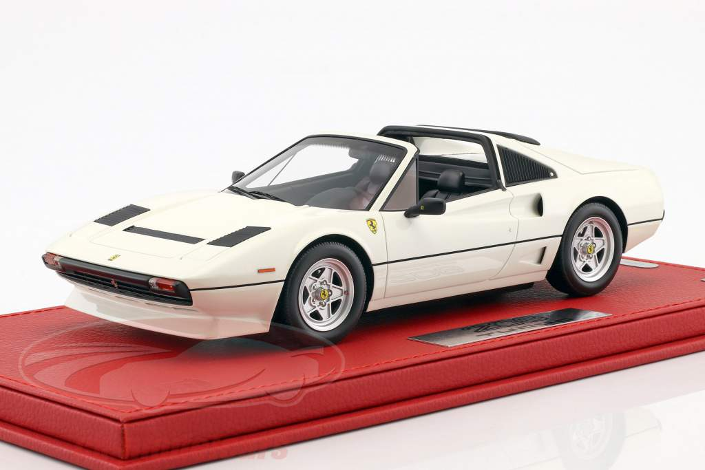 Ferrari 208 GTS Turbo year 1983 white 1:18 BBR