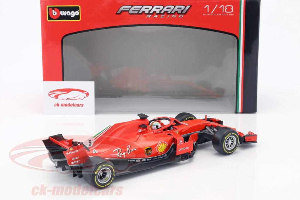 Sebastian Vettel Ferrari SF71H #5 formule 1 2018 1:18 Bburago
