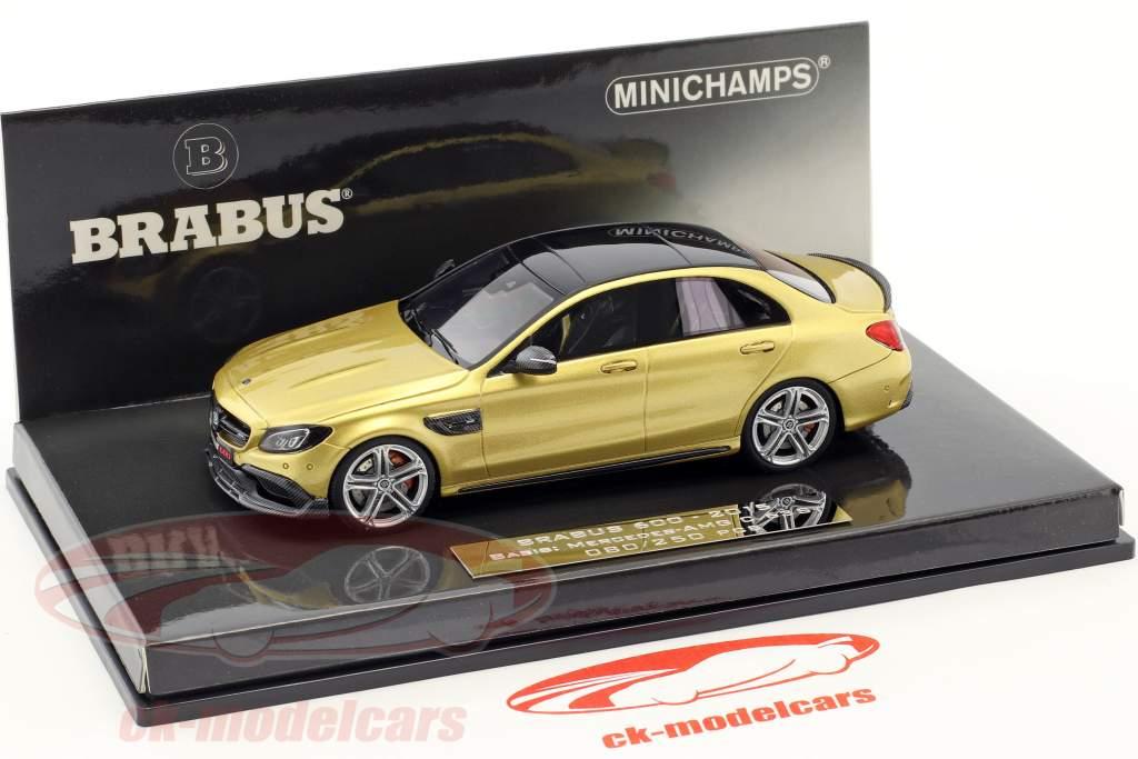 Brabus 600 basado en Mercedes-Benz AMG C 63 S año de construcción 2015 oro metálico 1:43 Minichamps