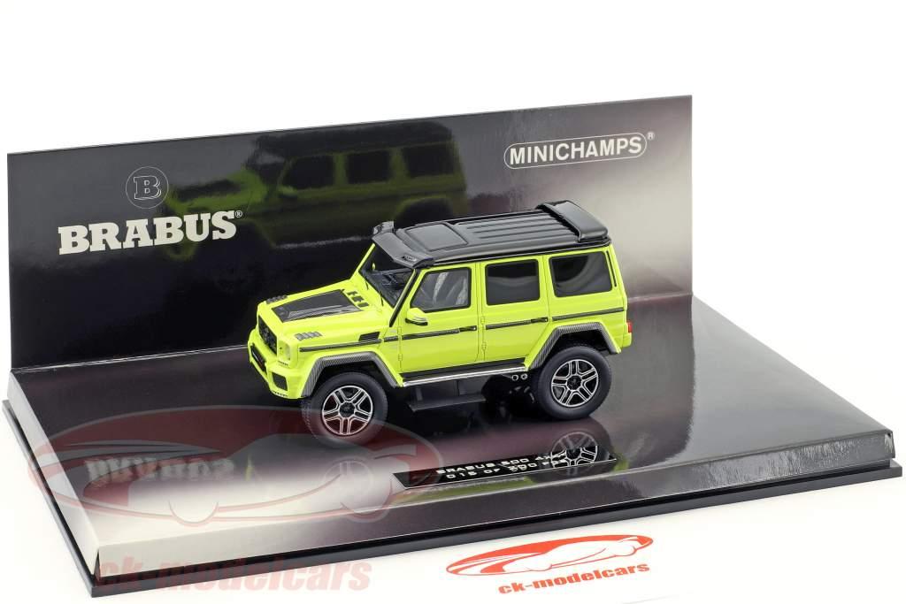 Brabus 500 4x4² based on Mercedes-Benz G500 4x4² year 2016 green-yellow 1:43 Minichamps