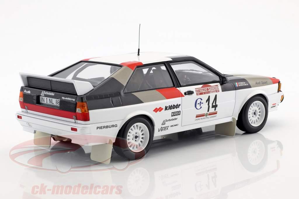 Audi Quattro #14 vincitore Rallye SanRemo 1981 Mouton, Pons 1:18 Minichamps